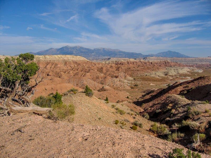 Parco nazionale della scogliera del Campidoglio vicino a Torrey, Utah fotografie stock