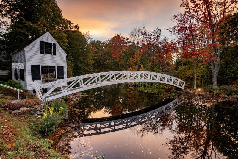 Parco nazionale di acadia in autunno fotografie stock