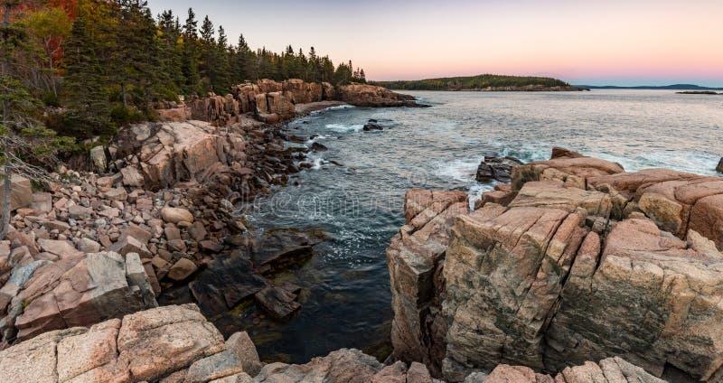 Parco nazionale di acadia in Maine immagini stock libere da diritti