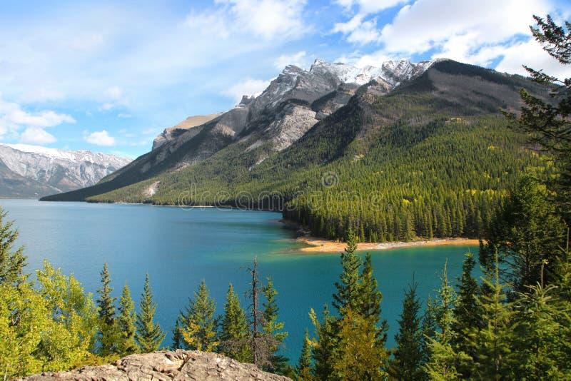 Parco nazionale di Banff nel tempo di autunno fotografia stock