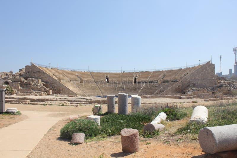 Parco nazionale di Cesarea fotografia stock libera da diritti