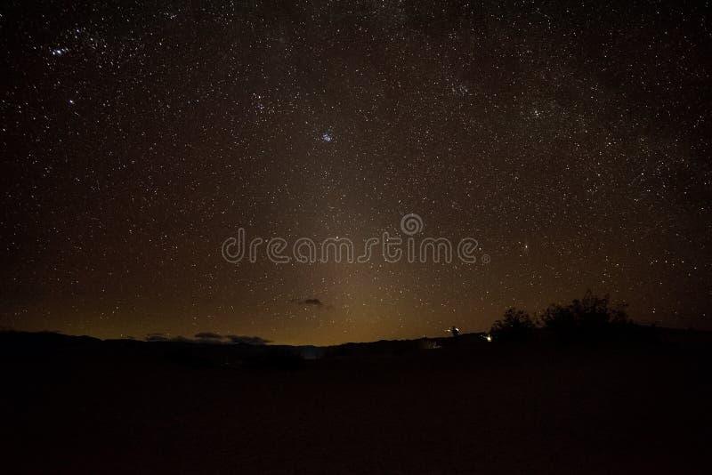 Parco nazionale di Death Valley di notte immagini stock libere da diritti