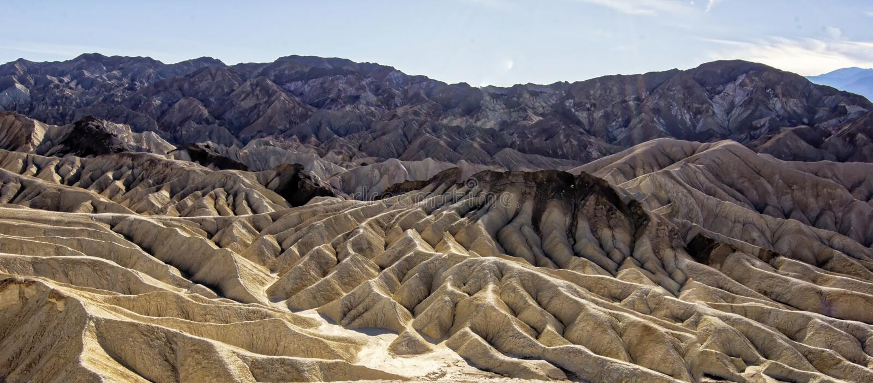 Parco nazionale di Death Valley - punto di Zabriskie fotografia stock