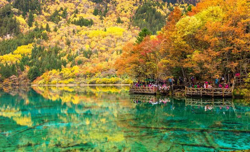 Parco nazionale di Jiuzhaigou immagine stock
