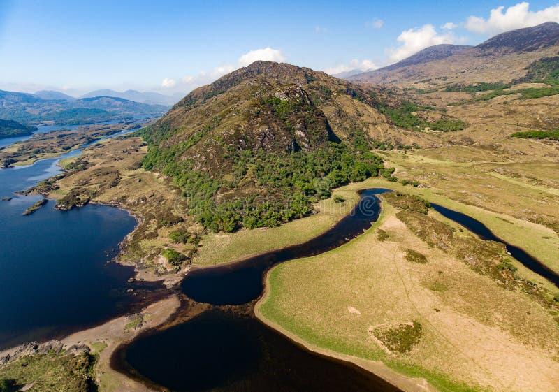 Parco nazionale di Killarney di vista aerea sull'anello di Kerry, Irlanda fotografia stock