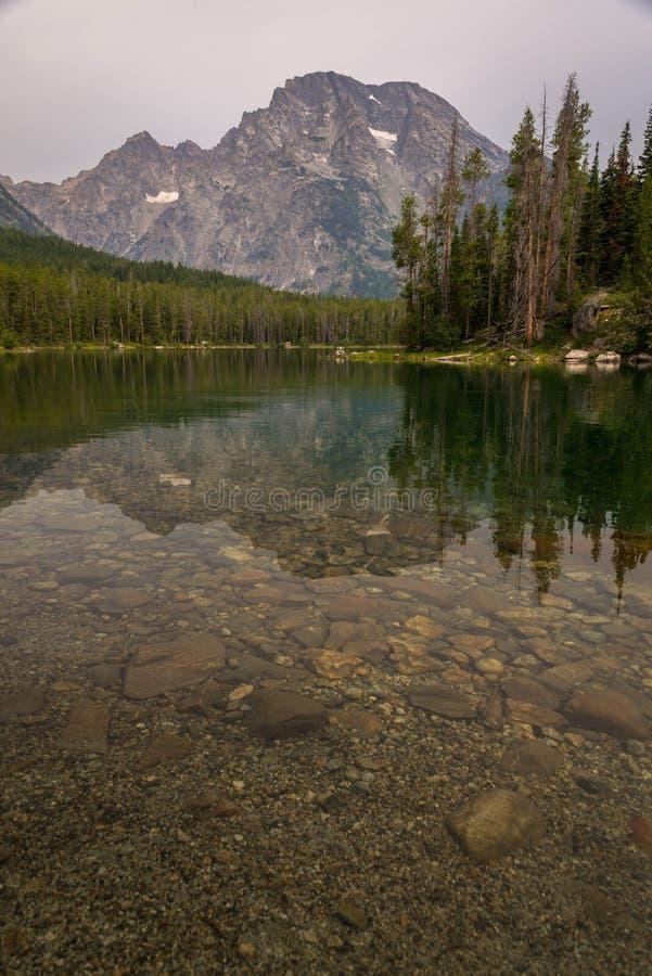 Parco nazionale di Leigh Lake At The Grand Teton fotografie stock