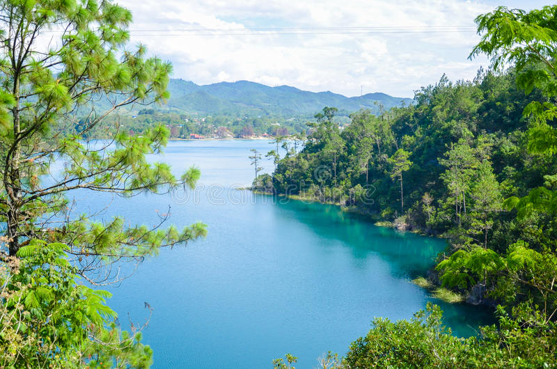 Parco nazionale di Montebello, stato del Chiapas, Messico, il 25 maggio immagine stock libera da diritti
