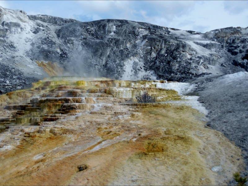 Parco nazionale di pietra giallo fotografia stock libera da diritti