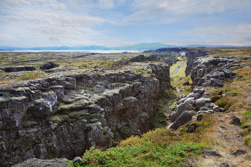 Parco nazionale di Thingvellir Pingvellir in Islanda immagini stock