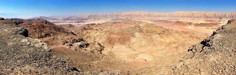 Parco nazionale di Timna, panorama immagine stock libera da diritti