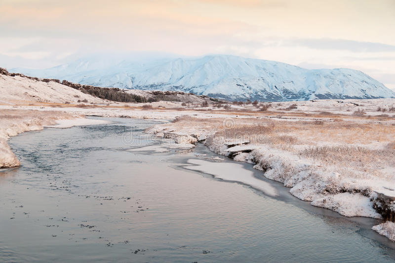 Parco nazionale Islanda di Thingvellir fotografia stock