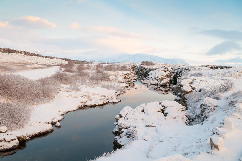 Parco nazionale Islanda di Thingvellir fotografia stock libera da diritti