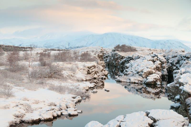 Parco nazionale Islanda di Thingvellir immagine stock