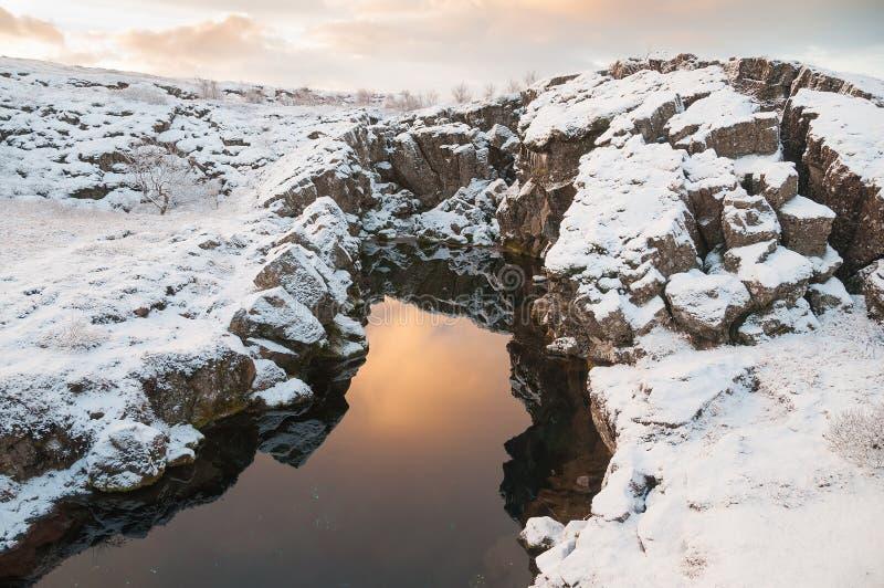 Parco nazionale Islanda di Thingvellir immagini stock