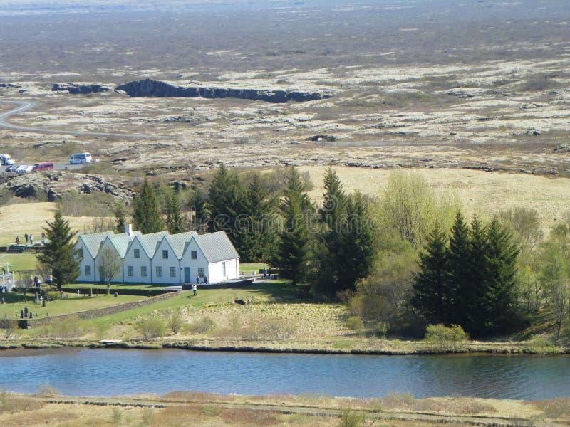 Parco nazionale Islanda di Thingvellir fotografie stock