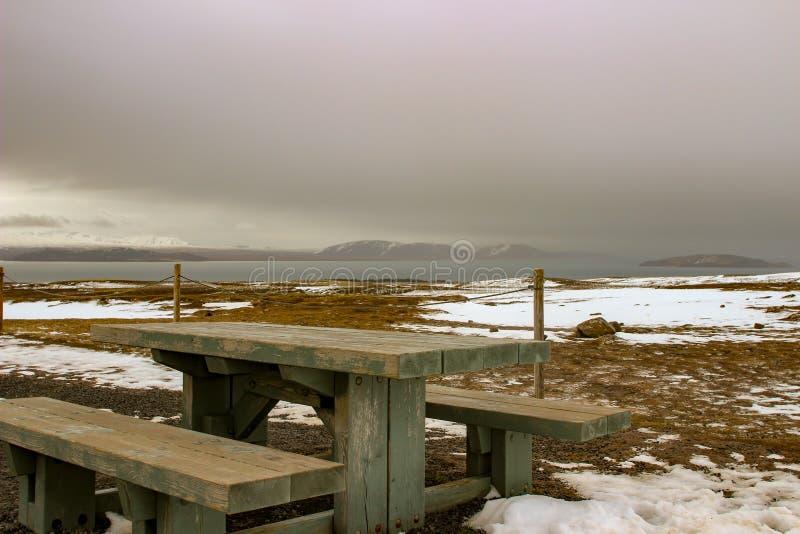 Parco nazionale Islanda di Thingvellir - nordamericana - spaccatura di Europa fotografia stock