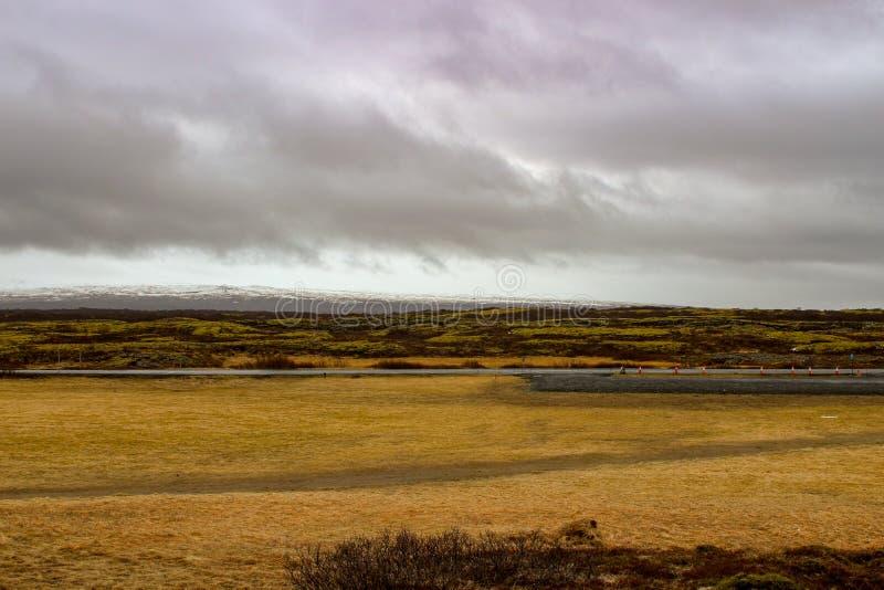 Parco nazionale Islanda di Thingvellir - nordamericana - spaccatura di Europa immagine stock libera da diritti