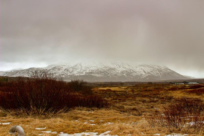 Parco nazionale Islanda di Thingvellir - nordamericana - spaccatura di Europa fotografia stock libera da diritti