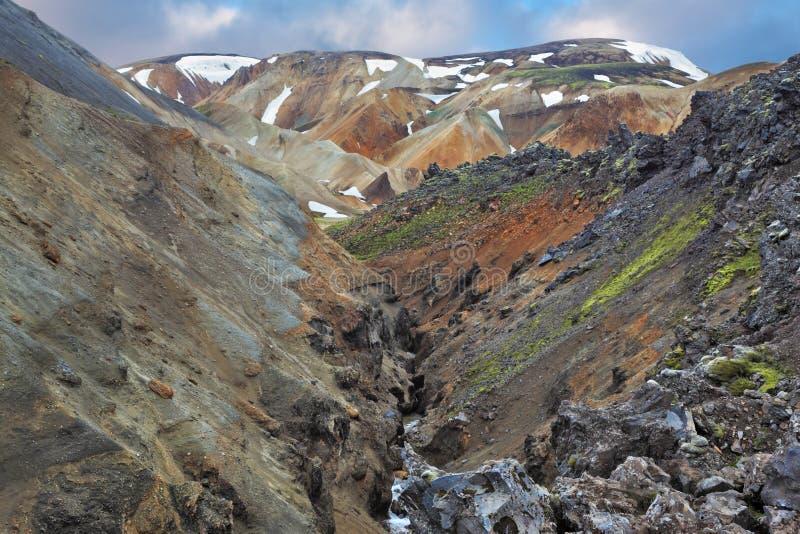Parco nazionale Landmannalaugar in Islanda fotografia stock