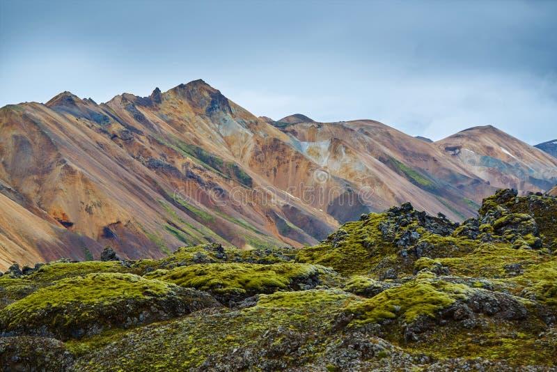 Parco nazionale Landmannalaugar, Islanda della valle fotografie stock