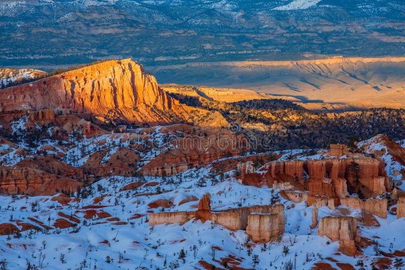 Parco nazionale nell'inverno, Utah, U immagine stock