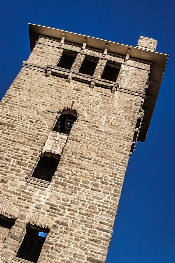 Parco nazionale storico dello stato dell'ha ha Tonka della torre di acqua immagine stock libera da diritti