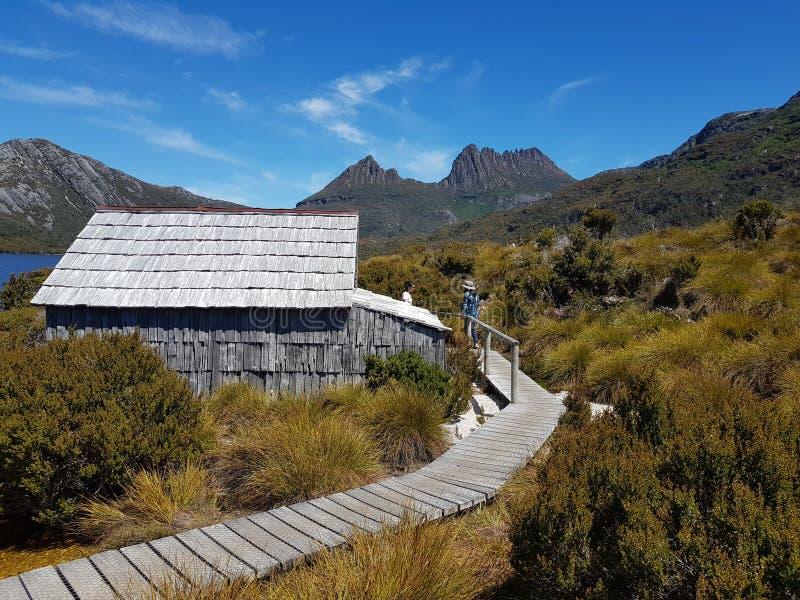 Parco nazionale Tasmania Australia della montagna della culla immagini stock