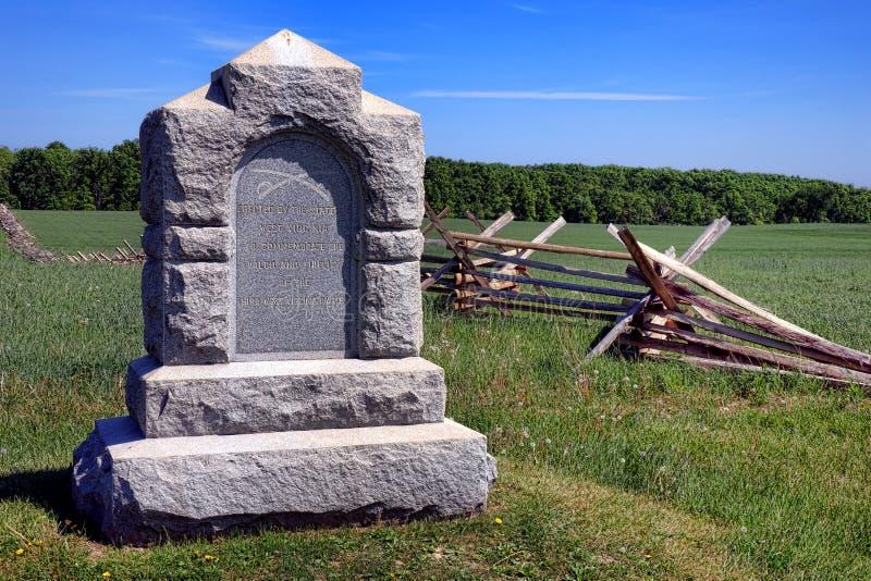 Parco nazionale terza Virginia Cavalry Memorial ad ovest di Gettysburg immagini stock