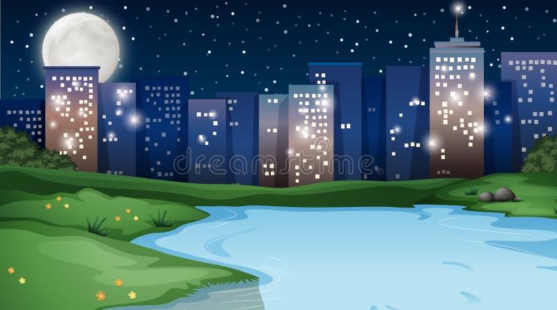 Parco nella scena della città illustrazione di stock