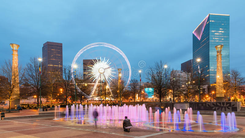 Parco olimpico centennale a Atlanta fotografia stock
