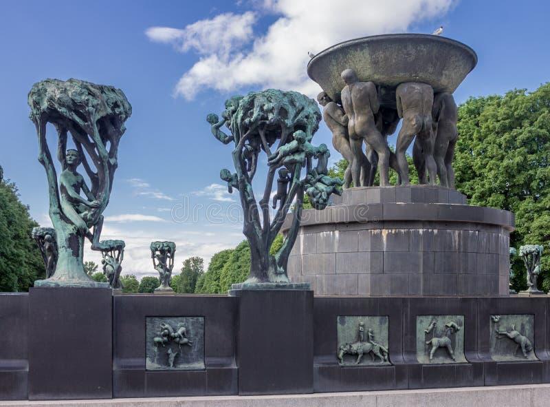 Parco Oslo Norvegia di Vigeland fotografia stock