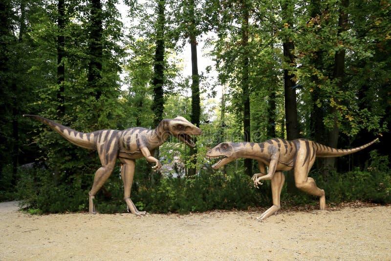 Parco preistorico Germania dello zoo immagini stock