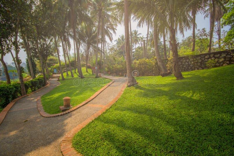 Parco pubblico al prabang del luang nel Laos fotografia stock libera da diritti