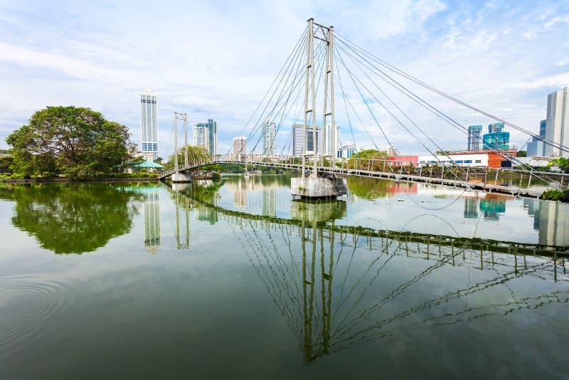 Parco pubblico di Gangaramaya, Colombo fotografie stock libere da diritti