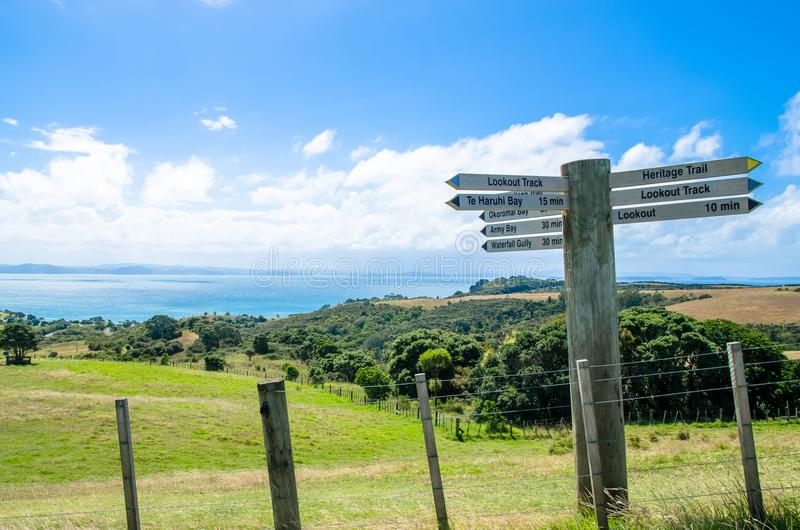 Parco regionale di Shakespear, regione di Auckland, Nuova Zelanda fotografie stock