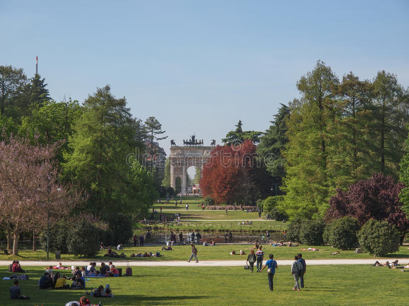 Parco Sempione in Milan royalty free stock images