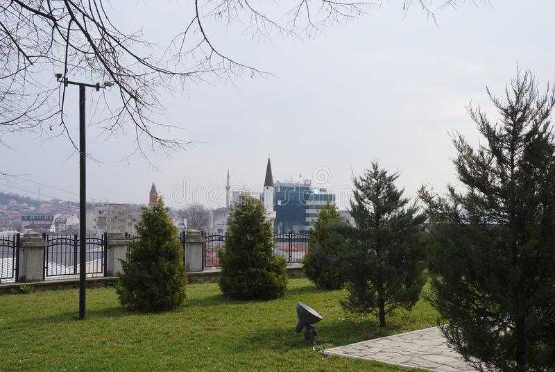 Parco a Skopje immagini stock