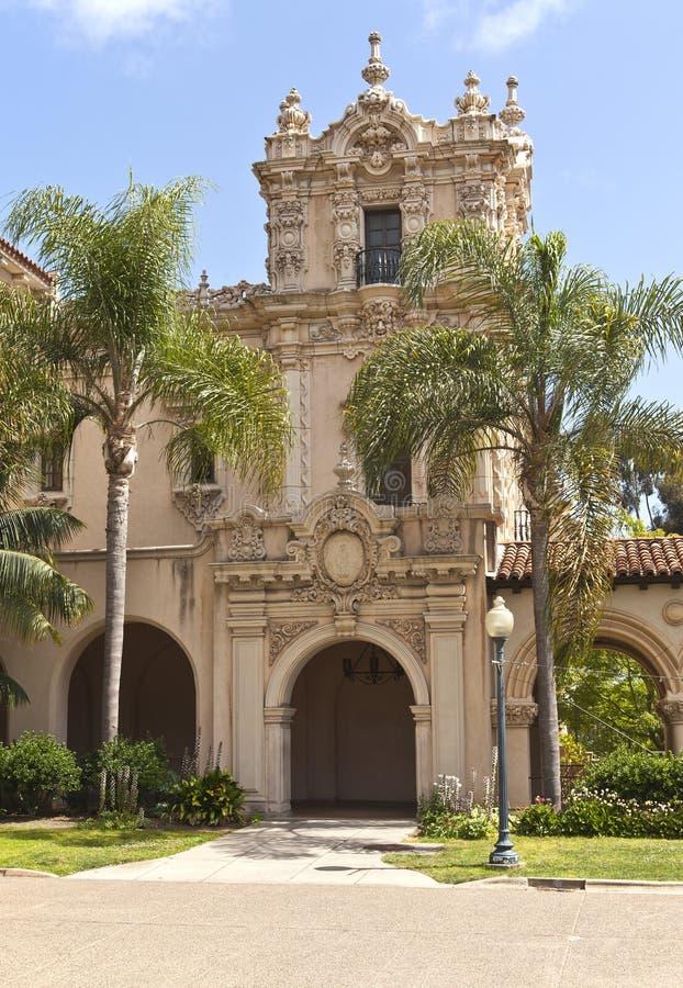 Parco spagnolo California della balboa di architettura. immagini stock