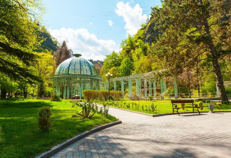 Parco storico centrale di Borjomi georgia fotografia stock libera da diritti