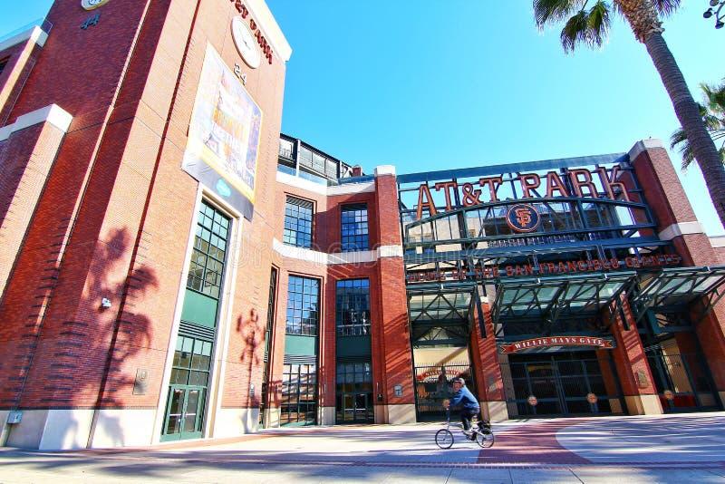 Parco storico di baseball del parco di AT&T fotografie stock libere da diritti