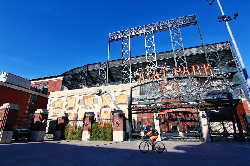 Parco storico di baseball del parco di AT&T immagini stock