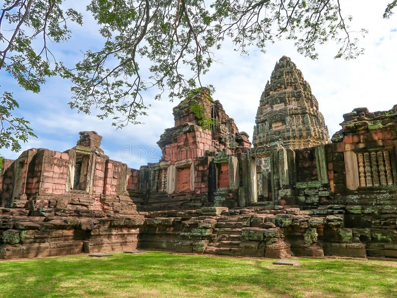 Parco storico di Phimai, castello antico in Nakhon Ratchasima, Tailandia fotografie stock