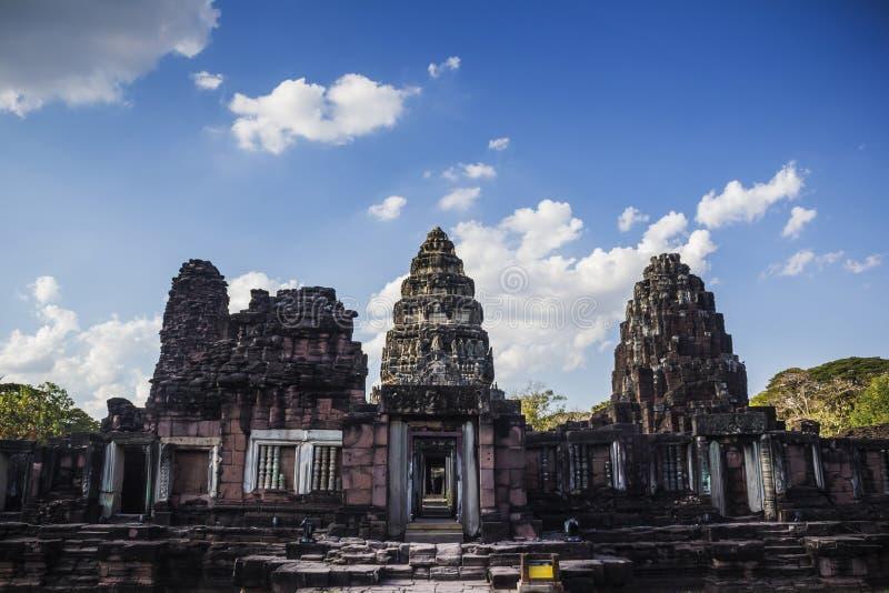 Parco storico di Phimai, parte del palazzo antico immagine stock libera da diritti