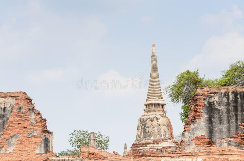 Parco storico Tailandia di Ayuthaya fotografia stock