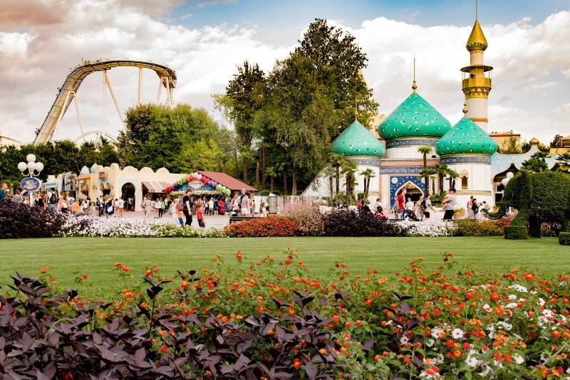 Parco a tema di Gardaland in Castelnuovo Del Garda, Italia fotografie stock