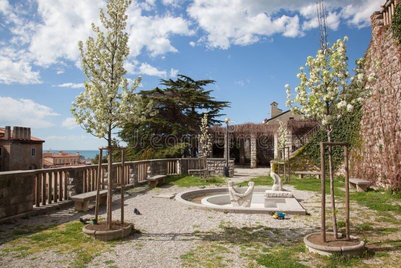 Parco a Trieste fotografie stock