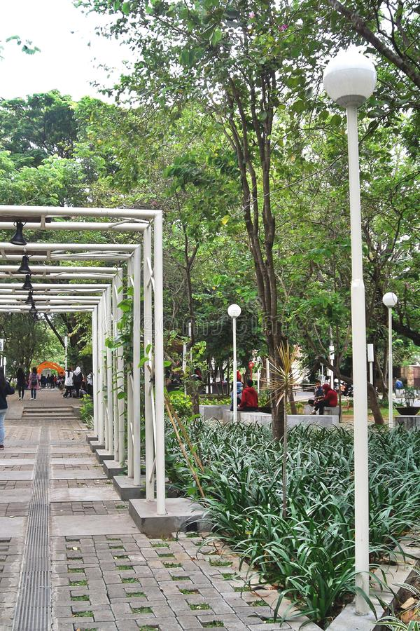 Parco in una zona residenziale Taman Slamet fotografia stock