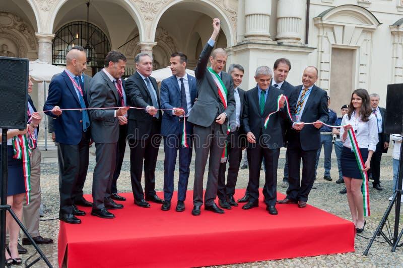 Parco Valentino - Car Show do ar livre em Turin - segunda edição 2016 imagem de stock royalty free