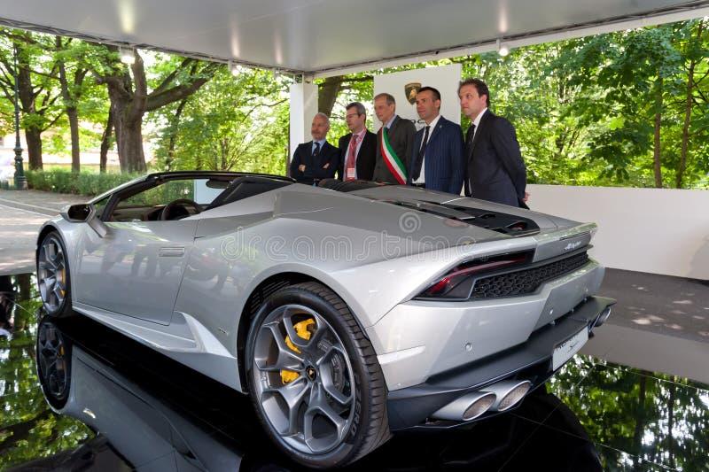 Parco Valentino - Car Show do ar livre em Turin - segunda edição 2016 foto de stock