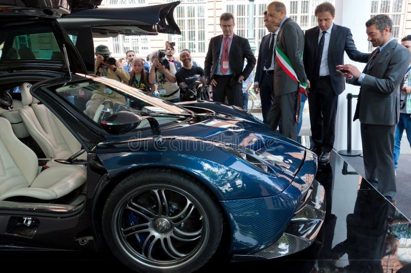 Parco Valentino - Car Show do ar livre em Turin - segunda edição 2016 fotos de stock royalty free